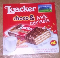 Loacker choco & milk cereals